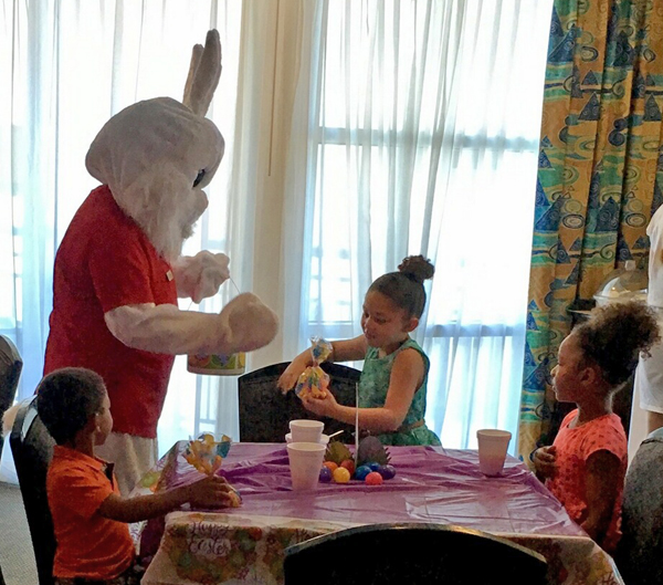 Easter Bunny visits Seaside