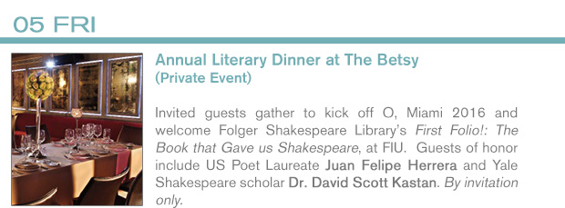 INFO 2/5 Literary Dinner