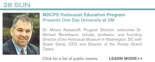 INFO - 2/28 MDCPS Holocaust Education