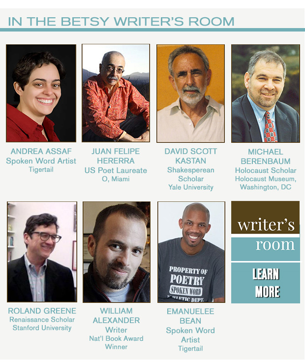 Writers in Residence for February 2016