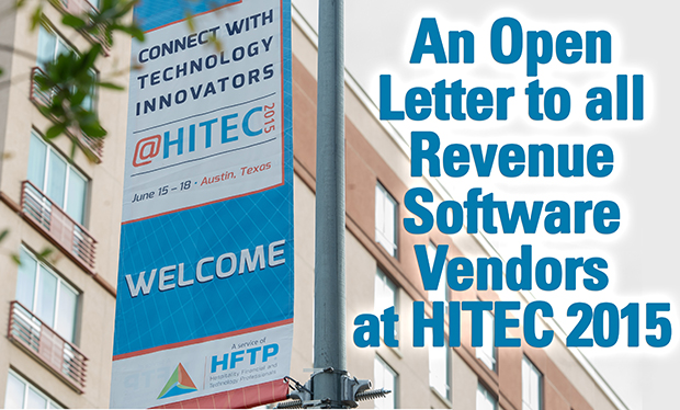 An Open Letter to all Revenue Software Vendors at HITEC 2015