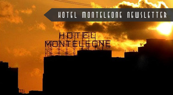 Hotel Monteleone New Orleans Hotel Rooftop Sign Sunset